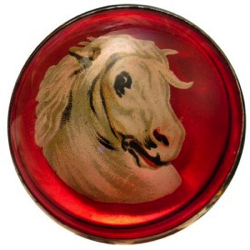"1-1 Face designs - Horse - Design Under Glass (1-1/4"")"