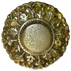 "1-1 Face designs - Stylized plant forms border - Brass (2"")"
