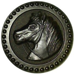 "1-1 Face designs - Horse - Rubber - BM ""N. S. Co"" (1-1/2"")"